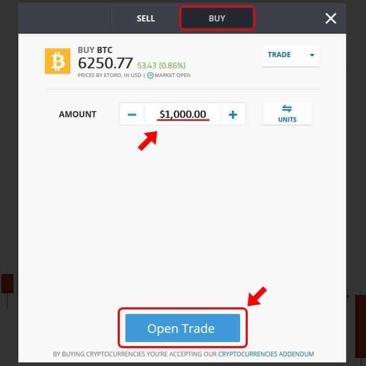 eToro-Bitcoin-покупка